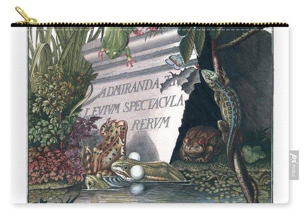 Frontis Of Historia Naturalis Ranarum Nostratium Carry-all Pouch