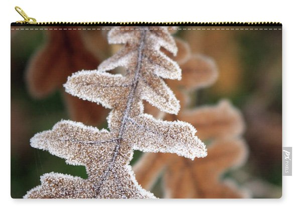 Frost Covered Oak Leaf Carry-all Pouch