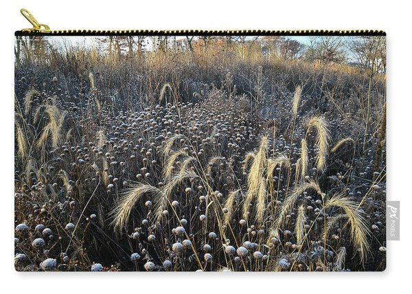 Frosted Foxtail Grasses In Glacial Park Carry-all Pouch