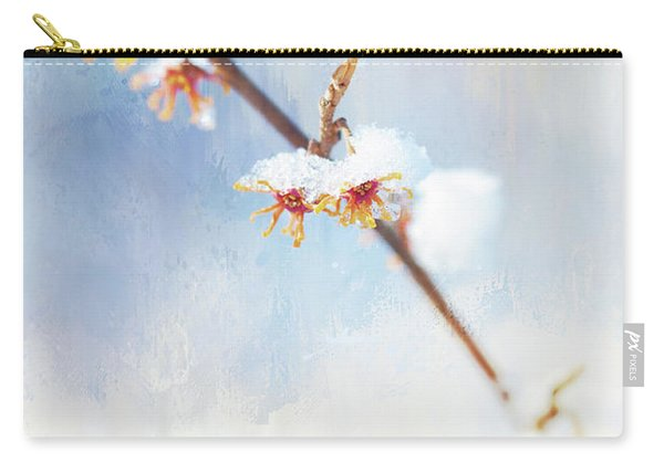 Frosted Witch Hazel Blossoms  Carry-all Pouch