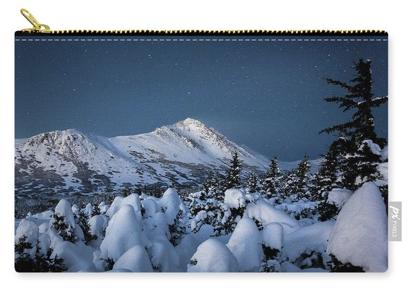 Carry-all Pouch featuring the photograph Frosty False Omalley C by Tim Newton