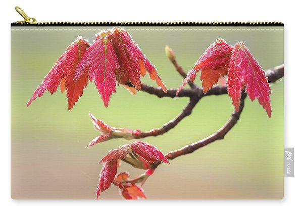 Frosty Maple Leaves Carry-all Pouch
