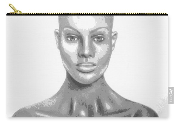 Bald Superficial Woman Mannequin Art Drawing  Carry-all Pouch
