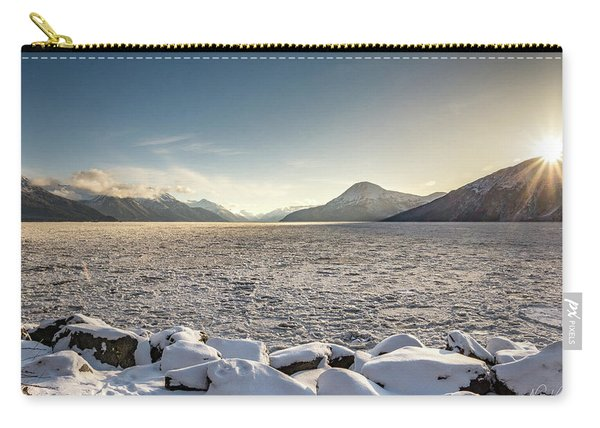 Frozen Fjord Sunrise Carry-all Pouch