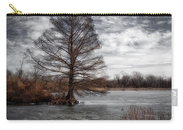 Carry-all Pouch featuring the photograph Frozen Lake by Michael Colgate