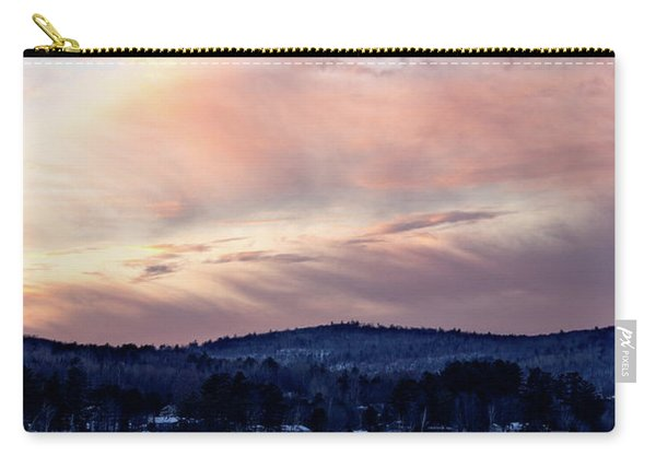 Frozen Lake Sunset In Wilton Maine  -78096-78097 Carry-all Pouch