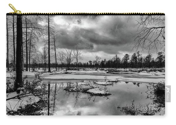 Frozen Mullica River Carry-all Pouch