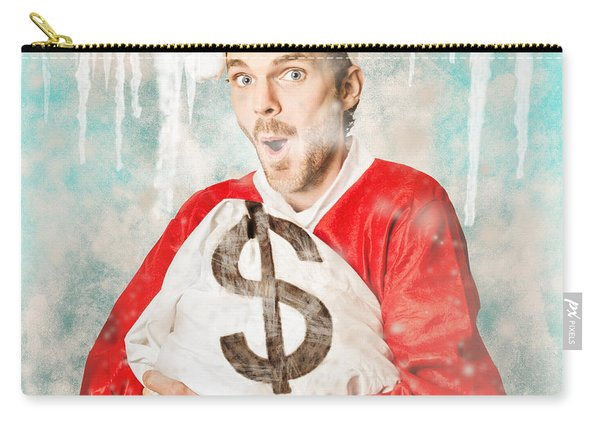Frozen Santa Saving With Ice Cold Price Drop Carry-all Pouch