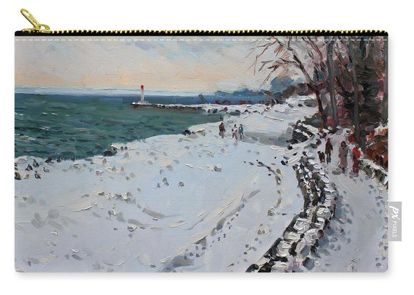 Frozen Shore In Oakville On Carry-all Pouch