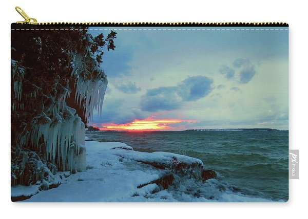 Frozen Sunset In Cape Vincent Carry-all Pouch