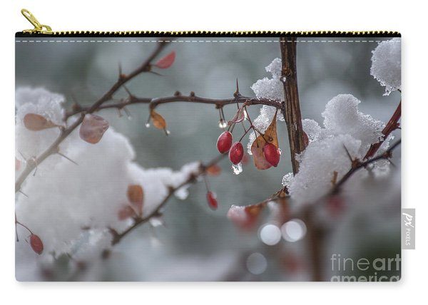 Carry-all Pouch featuring the photograph It's Berry Cold by Susan Warren