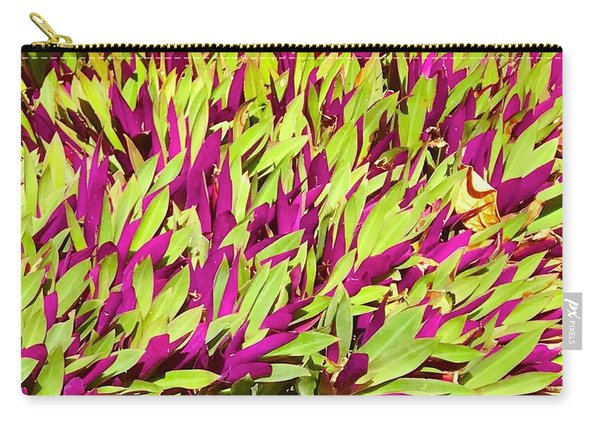 Fuchsia And Green -- Aloha Ground Cover Carry-all Pouch