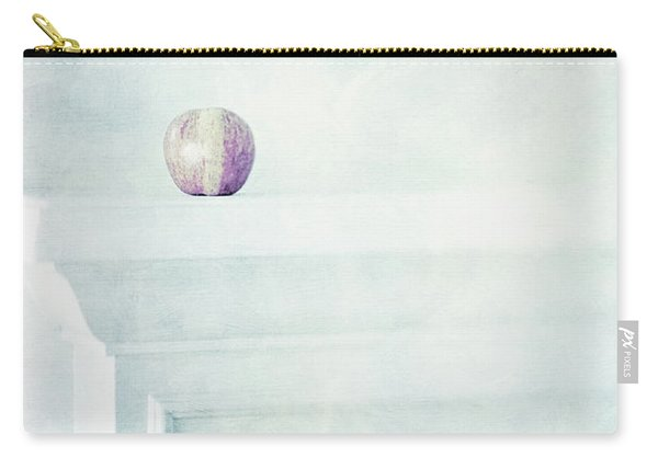 Fuji Apple On White Fireplace Mantel Carry-all Pouch