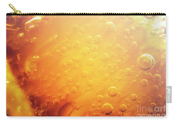 Full Frame Close Up Of Orange Soda Water Carry-all Pouch
