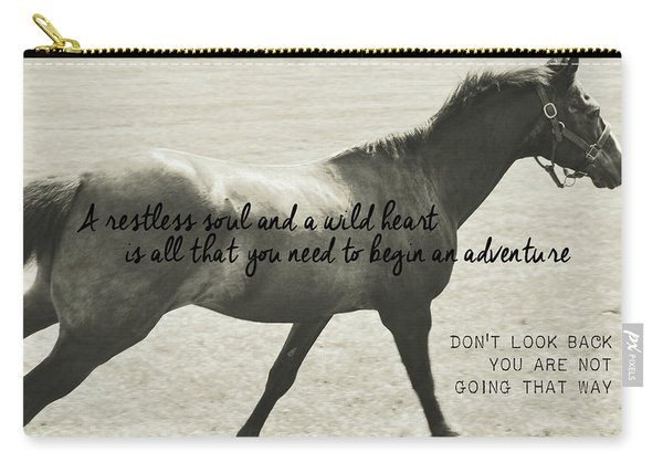 Full Gallop Quote Carry-all Pouch