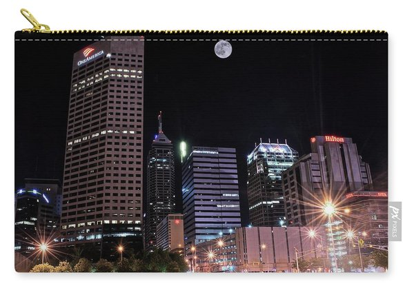 Full Moon Over Indy Towers Carry-all Pouch
