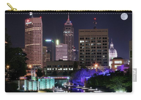 Full Moon Over The Canal Carry-all Pouch
