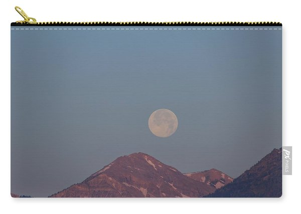 Full Moon Over The Tetons Carry-all Pouch