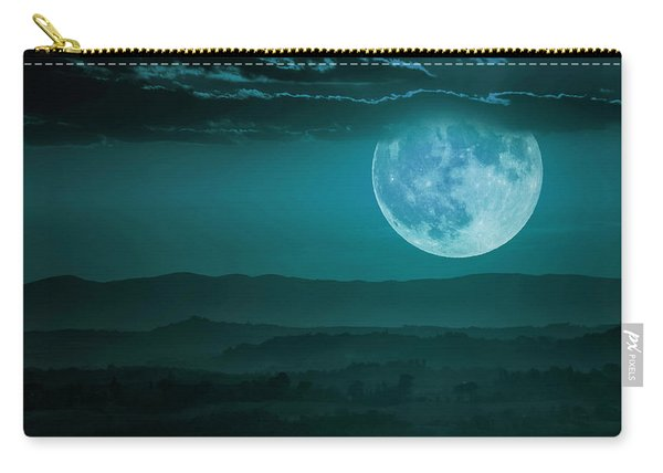 Full Moon Over Tuscany Carry-all Pouch
