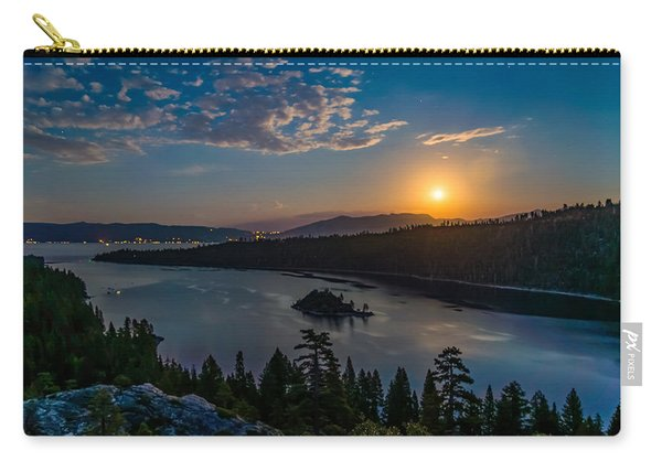 Full Moon Rising On Emerald Bay Carry-all Pouch