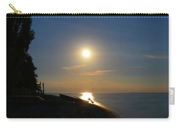 Full Moon Rising Out Of Lake Huron Carry-all Pouch