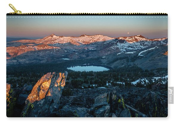 Full Moon Set Over Desolation Wilderness Carry-all Pouch