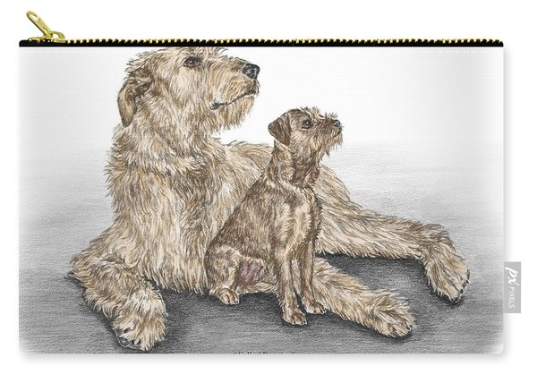 Full Of Promise - Irish Wolfhound Dog Print Color Tinted Carry-all Pouch