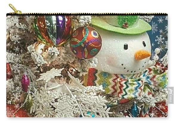 Fun Snowman Holiday Greeting Carry-all Pouch
