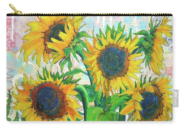 Funflowers Carry-all Pouch
