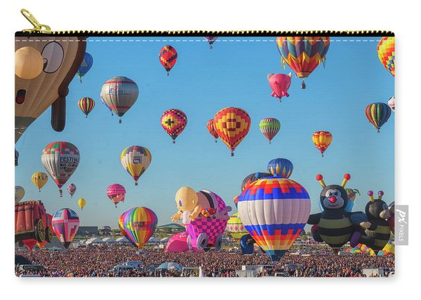 Carry-all Pouch featuring the photograph Funky Balloons by Tom Singleton