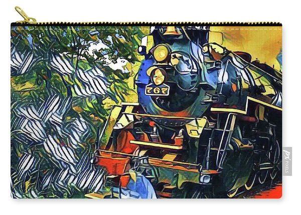 Funky Locomotive Steam Engine Carry-all Pouch
