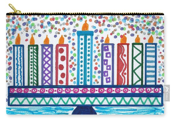 Funky Menorah  Carry-all Pouch