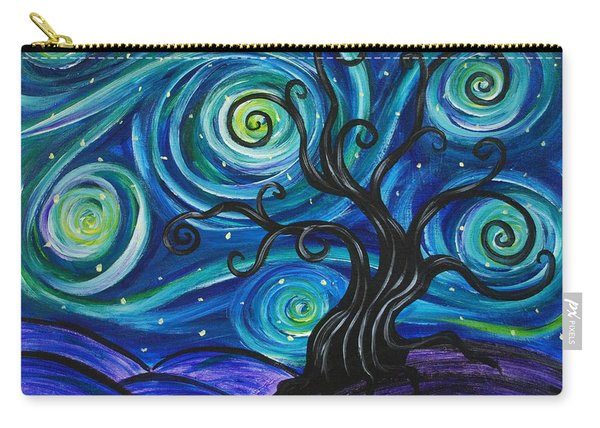 Funky Tree, Starry Night Carry-all Pouch