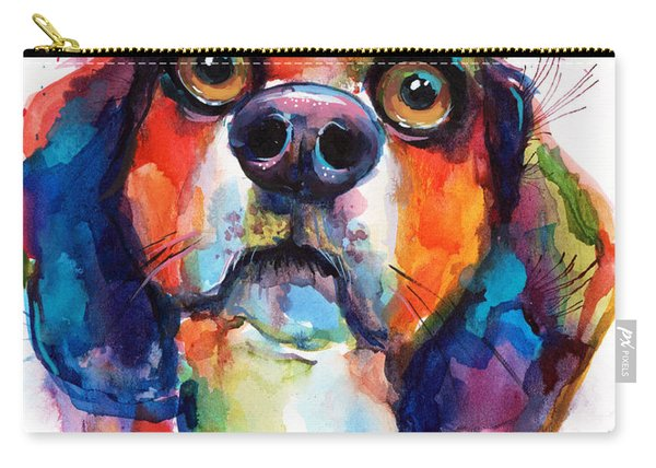 Funny Beagle Dog Art Carry-all Pouch