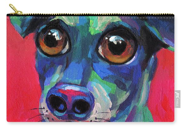 Funny Dachshund Weiner Dog With Intense Eyes Carry-all Pouch