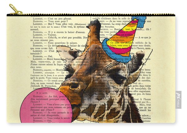 Funny Giraffe, Dictionary Art Carry-all Pouch