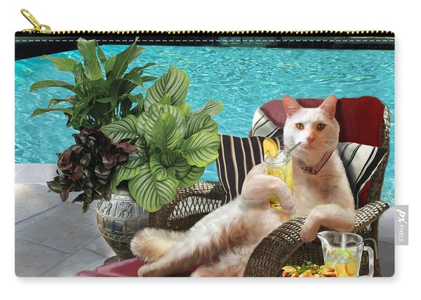 Funny Pet  Vacationing Kitty Carry-all Pouch