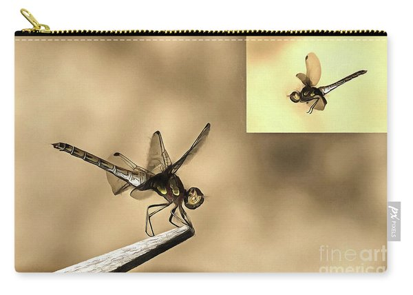 Furniture And Flying Dragonfly Carry-all Pouch