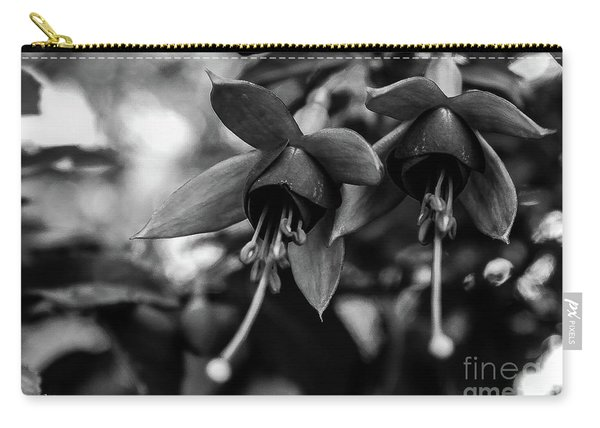 Fuchsia, Black And White Carry-all Pouch