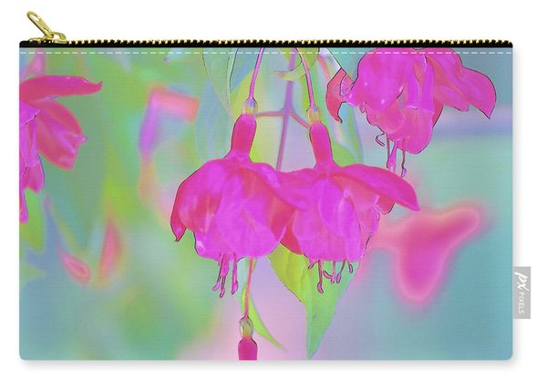 Fuchsia Flower Abstract Carry-all Pouch
