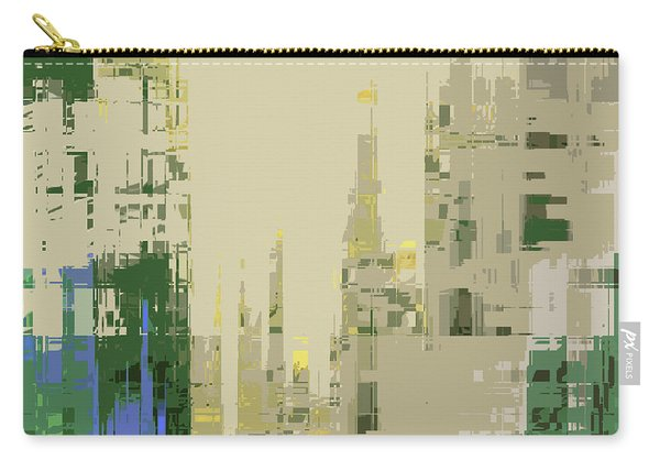 Carry-all Pouch featuring the digital art Futura Circa 66 by Gina Harrison
