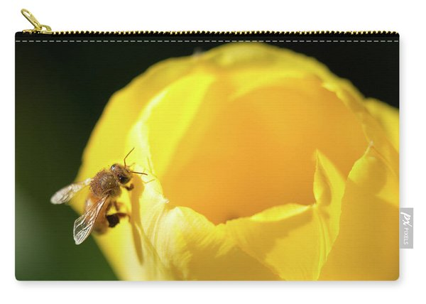 Carry-all Pouch featuring the photograph Fuzzy Pollen by Brian Hale