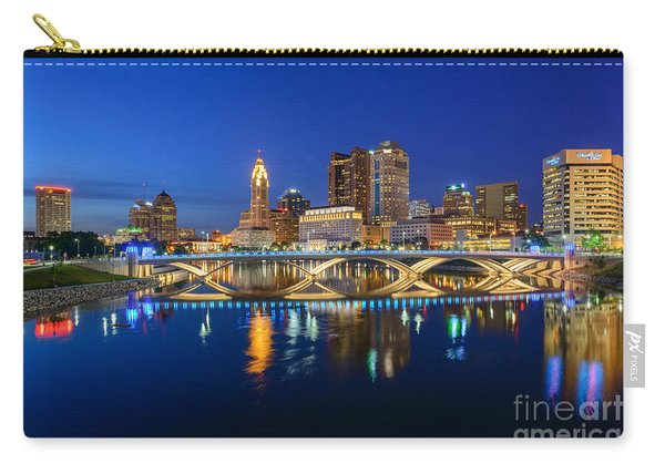 Fx2l531 Columbus Ohio Skyline Photo Carry-all Pouch