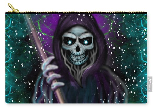 Carry-all Pouch featuring the painting Galaxy Grim Reaper Fantasy Art by Raphael Lopez