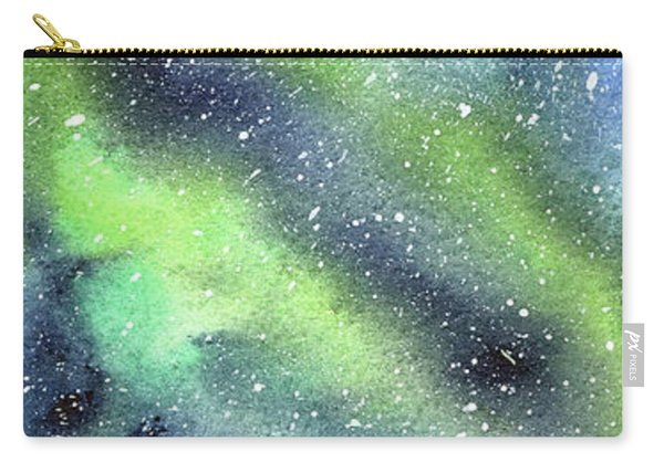 Galaxy Watercolor Nebula Northern Lights Carry-all Pouch