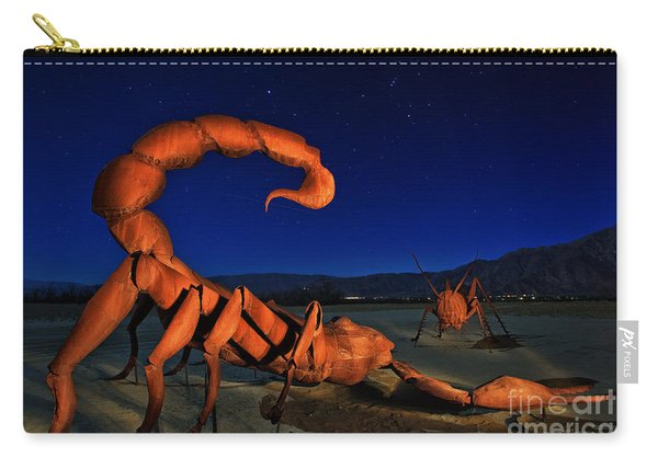 Carry-all Pouch featuring the photograph Galleta Meadows Estate Sculptures Borrego Springs by Sam Antonio