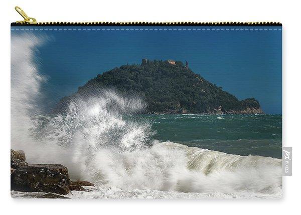 Gallinara Island Seastorm - Mareggiata All'isola Gallinara Carry-all Pouch