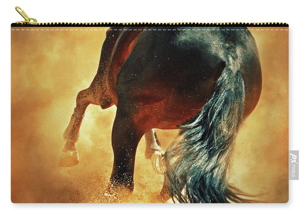 Galloping Horse In Fire Dust Carry-all Pouch