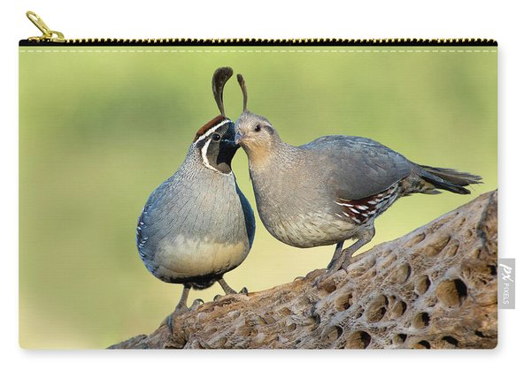 Gambels Quails In Love Carry-all Pouch
