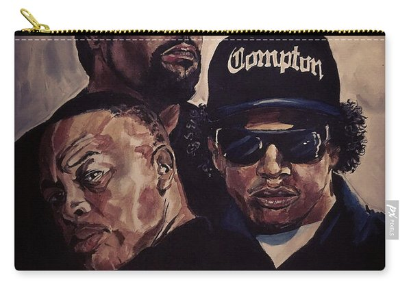 Carry-all Pouch featuring the painting Gangsta Trinity by Joel Tesch